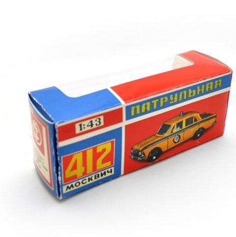 Коробка для москвич а8 патрульная ранняя сине-красная