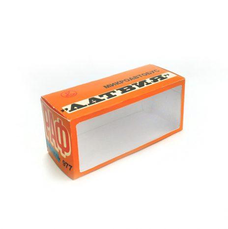 Коробка для РАФ 977 оранжевая с окошком