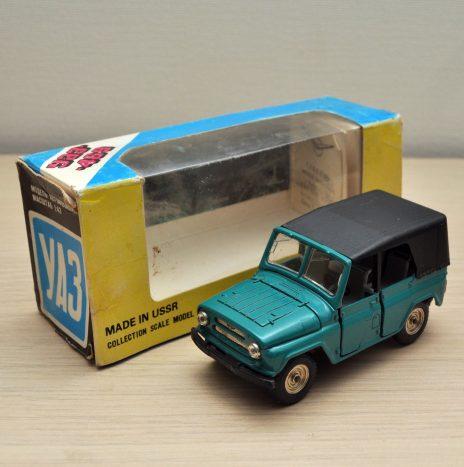 УАЗ 469 а34 лазурный. Железное днище. Родная коробка 1984 отк12